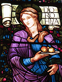 St. Dorothy (East Window, Brampton, Cumbria)