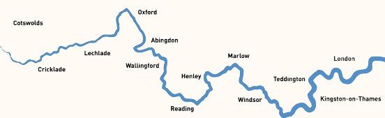Thames, map