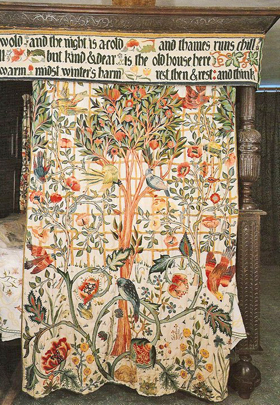 Curtain embroidered by May Morris