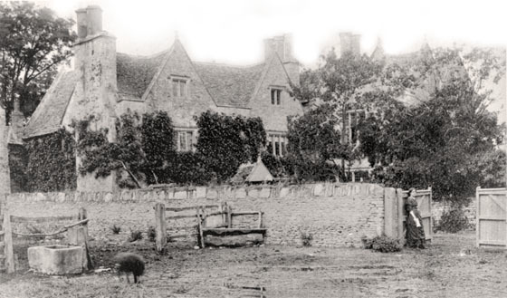 Photograph of Kelmscott Manor and May Morris