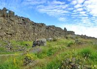 Modern photograph of Law Rock at Thingvellir, Iceland