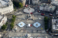 Photograph of modern overview of Trafalgar Square