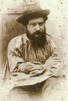Photograph of Morris in working smock